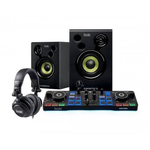Hercules konsola dj starter kit + głośniki dj monitor 32 + słuchawki hdp dj m40.2
