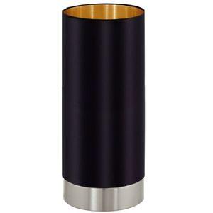 Eglo Stojąca lampa stołowa maserlo 95117 abażurowa lampka biurkowa tuba czarna (9002759951177)