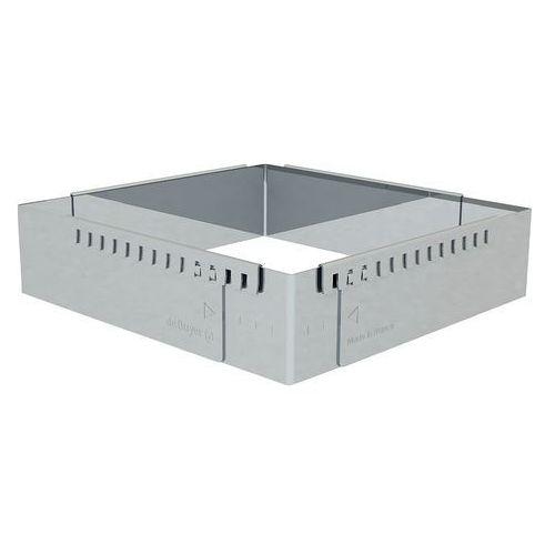 Rant piekarniczo-cukierniczy kwadratowy regulowany - 16x16 cm