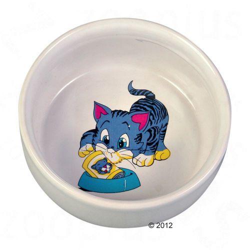 ceramiczna miska z motywem dla kota - 300 ml od producenta Trixie