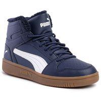 Puma Sneakersy - puma rebound layup sl fur 369830 02 peacoat/puma white/gum