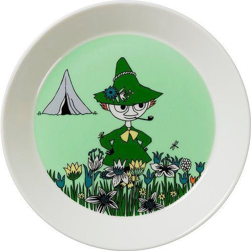 Talerz muminki 19 cm zielony włóczykij marki Arabia finland