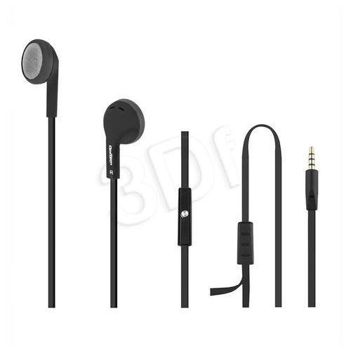 Qoltec Słuchawki douszne + mikrofon, czarne