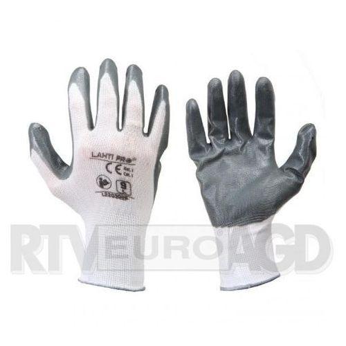 LAHTI PRO Rękawice nitryl szaro-białe rozmiar 8 opakowanie 12 par /L220308W/ (5903755052124)