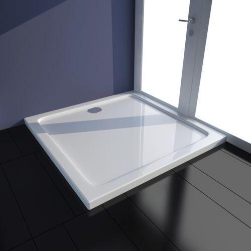 Vidaxl  kwadratowy brodzik prysznicowy abs biały 80 x cm (8718475904861)