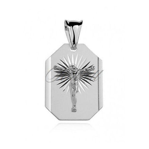 Srebrny diamentowany medalik pr.925 jezus na krzyżu - md017 od producenta Sentiell