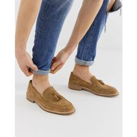 Selected homme tassel loafers in tan - tan
