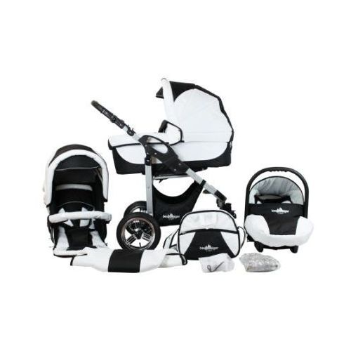 wózek spacerowy capri - zestaw black & white marki Bergsteiger