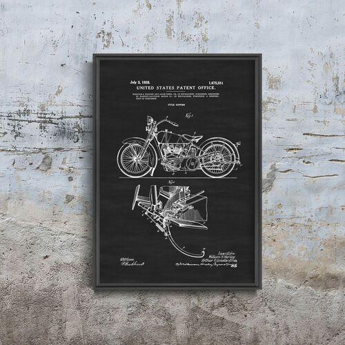 Plakat retro plakat retro motocykl harley davidson marki Vintageposteria.pl