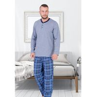 Piżama męska ambroży (jasny jeans), M-max