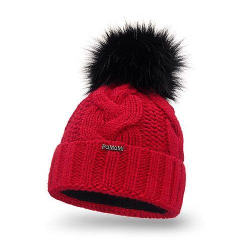Pamami Zimowa czapka damska - czerwony - czerwony (5902934071093)