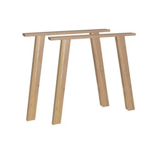 Woood Zestaw 2 podstaw do stołu Panel dąb 375005-EIK