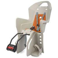 POLISPORT fotelik rowerowy Koolah kremowy/pomarańczowy (5604415080463)