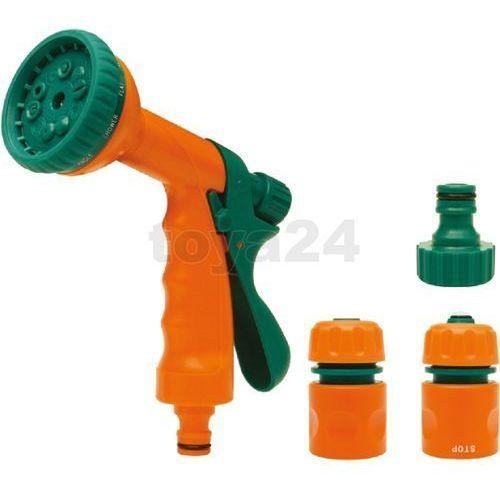Zestaw 1/2'': złączki z pistoletem zraszającym wielofunkcyjnym / 89208 / FLO - ZYSKAJ RABAT 30 ZŁ