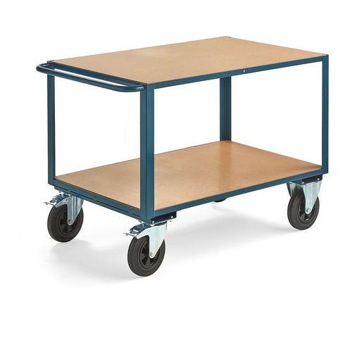 Wózek warsztatowy, z hamulcem, 2 koła skrętne, 600 kg, 1100x700 mm