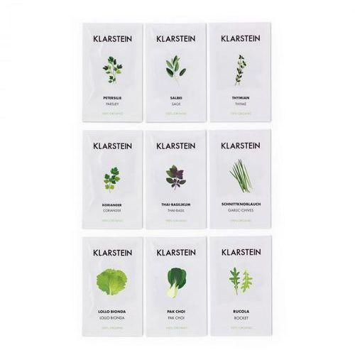 Klarstein Growlt Seeds Europe 9 paczek nasion: 3 x Azja 3 x Europa 3 x sałata (4060656148347)