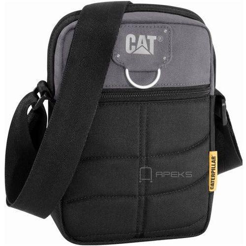 Caterpillar RODNEY saszetka męska na ramię / torba na tablet 5'' CAT / czarno - szara - Black / Anthracite (5711013045975)