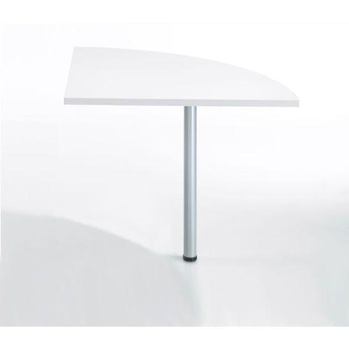 Blat naro�ny do biurka PRIMA 80cm - bia�y \ szary