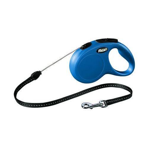 Flexi smycz automatyczna new classic m linka - 5m - do 20kg kolor: niebieski (4000498022610)