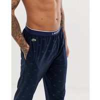 logo print cuffed joggers in navy - navy marki Lacoste