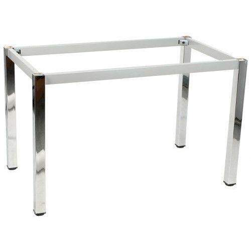 Stelaż ramowy stołu chromowany, 136x76 cm, noga kwadratowa