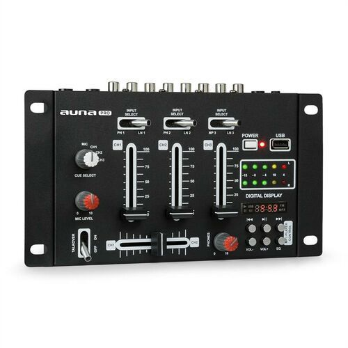 Auna pro dj-21 mikser dj konsola usb czarny (4260509687072)