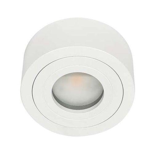 Spot lampa sufitowa rullo bianco mini okrągła oprawa minimalistyczna led 5w do łazienki ip44 biała marki Orlicki design