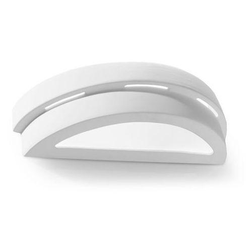 Kinkiet lampa ścienna Sollux Helios 1x60W E27 biały SL.0002 >>> RABATUJEMY do 20% KAŻDE zamówienie!!!