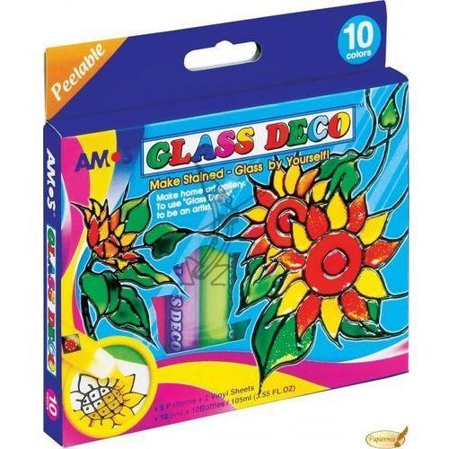 Farby witrażowe Glass Deco 10 kolorów AMOS (8802946500178)