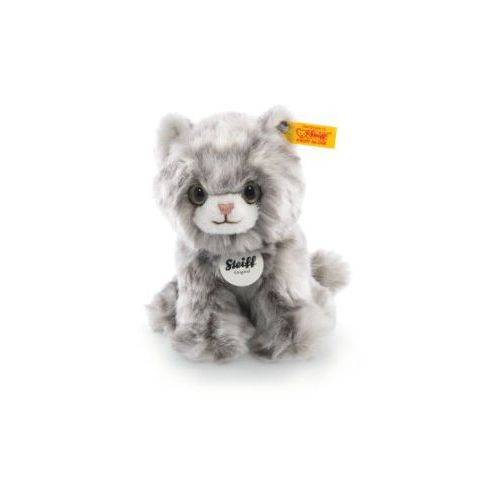 Steiff  maskotka kotek minka 17 cm, kolor szary, siedzący (4001505084010)