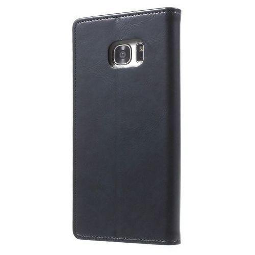 Mercury Bluemoon Flip - Etui Samsung Galaxy S7 Edge z kieszeniami na karty + stand up (granatowy), 7043