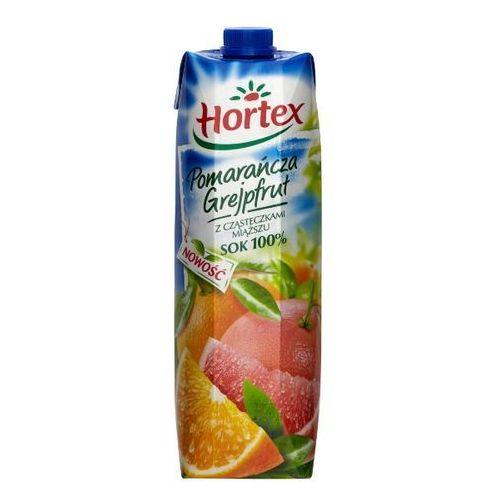 HORTEX 1l Pomarańcza Grejpfrut z cząstkami miąższu Sok 100% | DARMOWA DOSTAWA OD 150 ZŁ!, kup u jednego z partnerów
