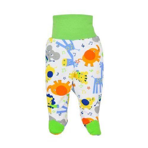 Dziecięcy bawełniane półśpiochy  zoo zielone dla chłopców marki Bobas fashion
