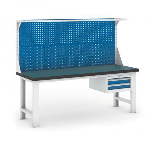 B2b partner Stół warsztatowy gb z panelem i kontenerem szufladowym, 2100 mm