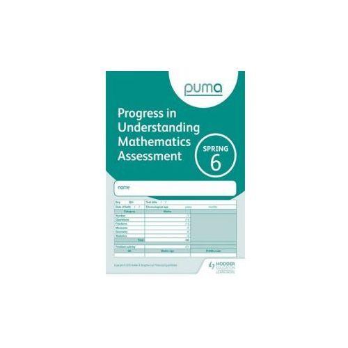 Puma Test 6, Spring Pk10 (Progress in Understanding Mathematics Assessment)