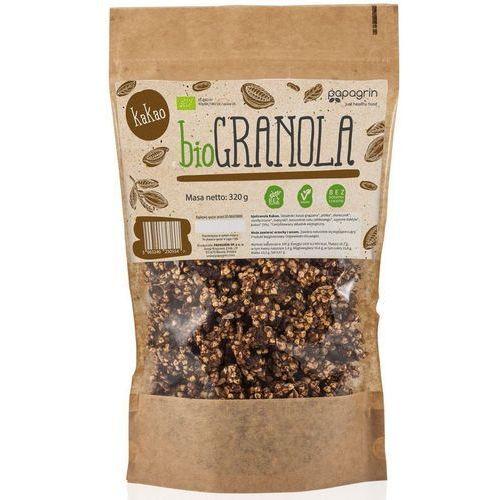 Papagrin (przekąski raw) Granola z kakao bio 320 g - papagrin