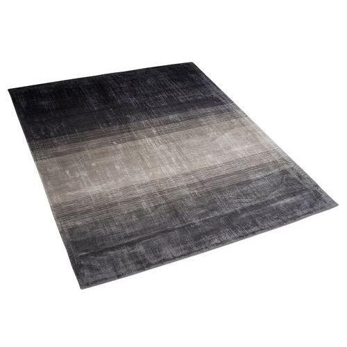 Dywan szaro-czarny 140 x 200 cm krótkowłosy ercis marki Beliani