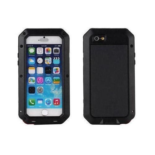 Aluminiowe Etui Zbroja dla iPhone 8 Plus - Czarne - Czarny \ iPhone 8 Plus