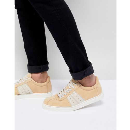 premium trainer with panel details - beige marki Selected homme