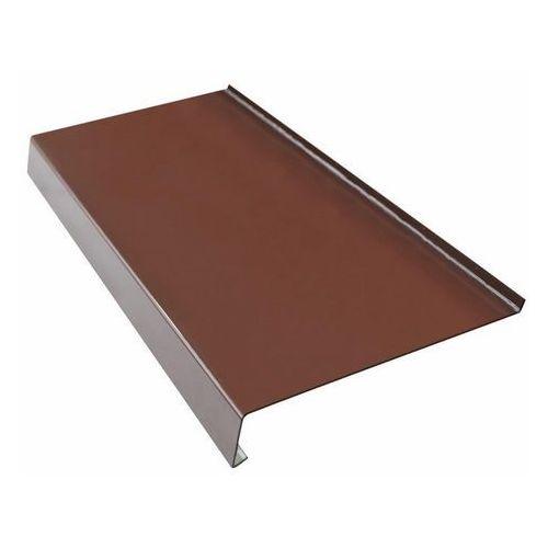 Parapet zewnętrzny stalowy Fola 25 x 120 cm brązowy, HPP0504