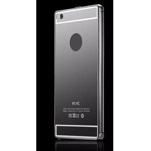 Obudowa Bumper Metal Mirror Case Huawei P8 Lite - Czarna - Czarny