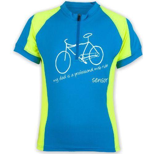 dziecięca koszulka rowerowa cyklo entry blue/yellow marki Sensor