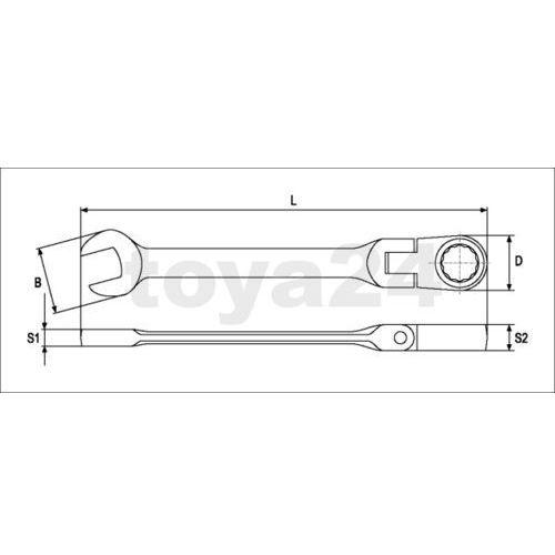 Klucz płasko-oczkowy z grzechotką i przegubem 11 mm Yato YT-0272 - ZYSKAJ RABAT 30 ZŁ (5906083902727)