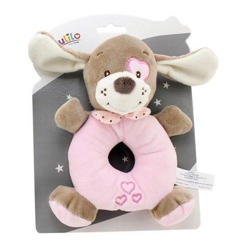 Grzechotka New Baby Piesek różowy 16 cm (5902002077149)