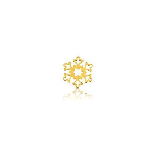 Ozdobna blaszka śnieżynka, złoto próba 585 marki 925.pl