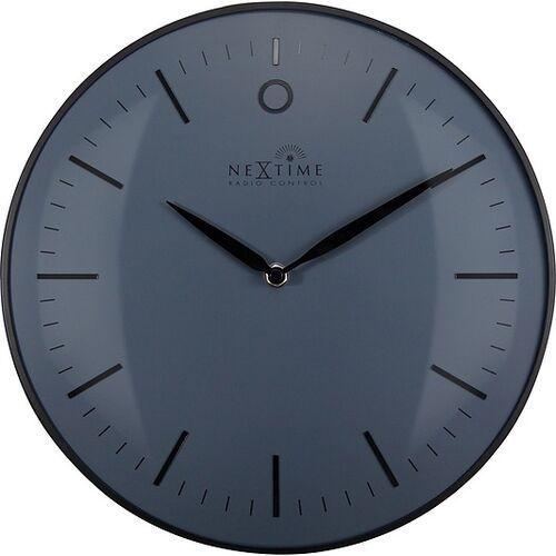 Zegar ścienny sterowany radiowo glamour small czarny, kolor czarny