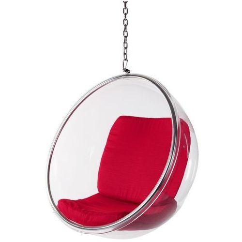 D2 Fotel bańska insp. bubble czerwona poduszka