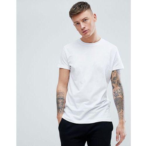 Pull&bear organic cotton basic t-shirt in white - white