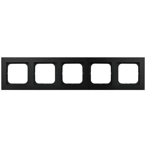OSPEL SONATA R-5R/33 Ramka pięciokrotna CZARNY METALIK (5907577446758)