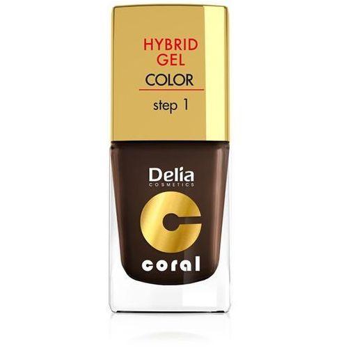 Delia cosmetics coral hybrid gel emalia do paznokci nr 07 ciemna czekolada 11ml - delia od 24,99zł darmowa dostawa kiosk ruchu (5901350455579)